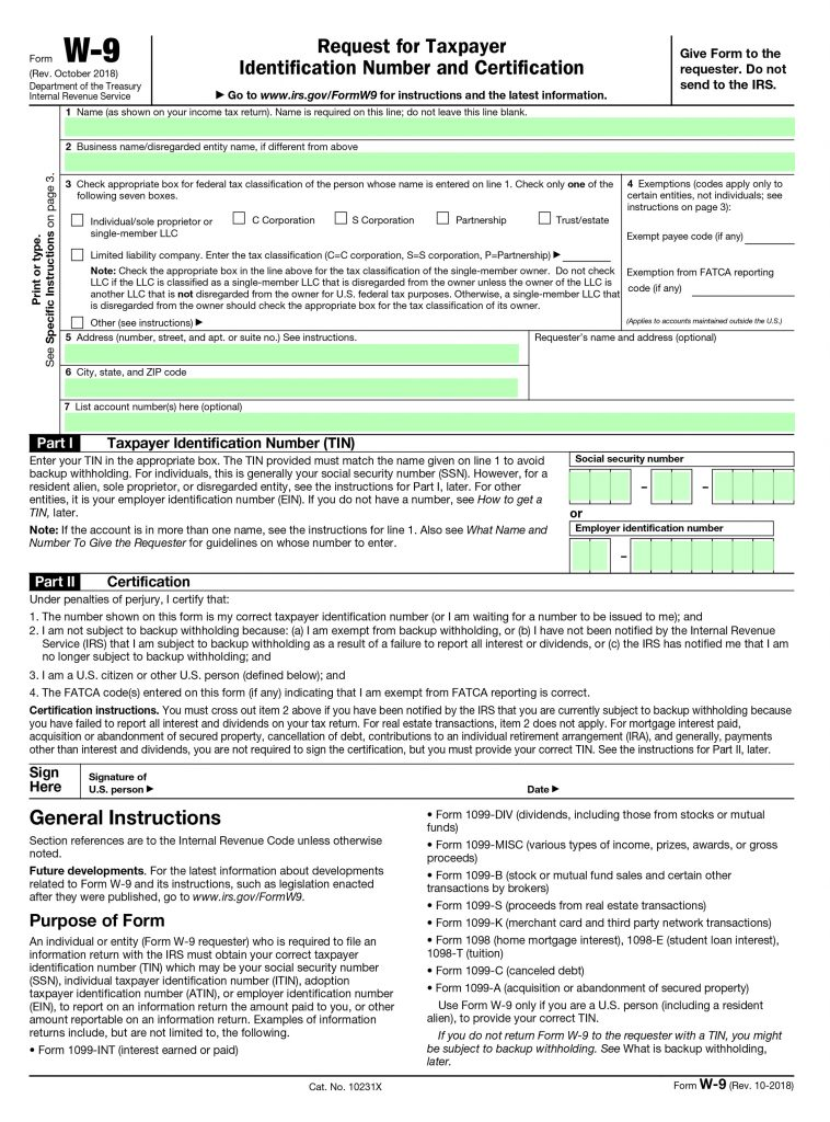 w9 form 2019 download